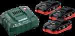 Metabo Basis-Set LiHD (3x 18V/3,5Ah/ Ladegerät) im Karton