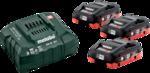 Metabo Basis-Set LiHD (3x 18V/4,0Ah/ Ladegerät) im Karton