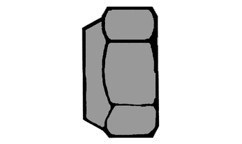 Stahl Klasse 8 galv 200x DIN 985 Sechskantmuttern mit Klemmteil verzinkt M 3